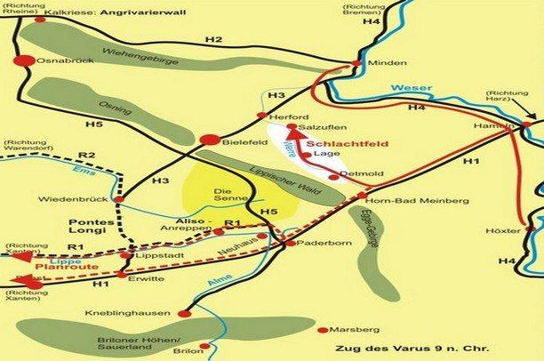 Der Römer in Deutschland, die Vaursschlacht und Ovid's Ars Amatoria